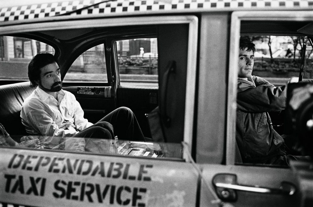 Martin Scorsese and De Niro on the set of Taxi Driver. Photo: Steve Schapiro