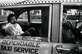 Martin Scorsese and De Niro on the set of Taxi Driver. Photo: Steve Schapiro