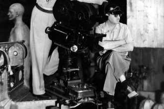 Orson Welles and Gregg Toland filming Citizen Kane (1941)