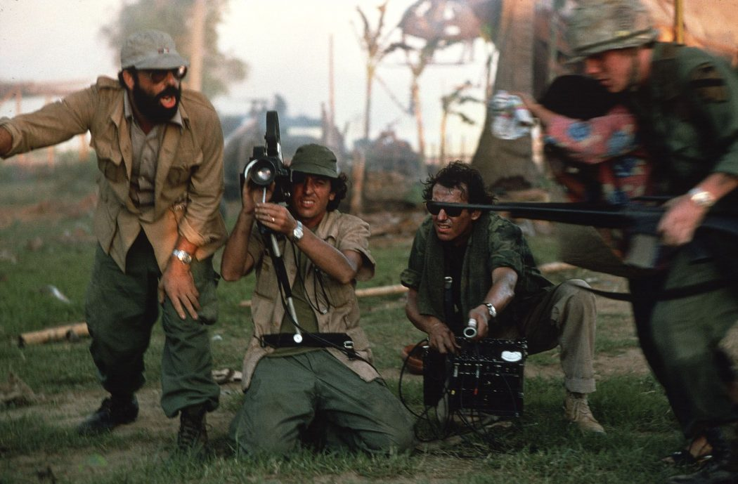 Seen here during production, the director expressed interest in making APOCALYPSE NOW as early as 1974. George Lucas had previously intended to direct but was unavailable due to the production of STAR WARS (which, according to editor and sound designer Walter Murch, incorporated some of the political themes from this script). Courtesy of the Margaret Herrick Library and the Academy of Motion Picture Arts and Sciences Archive