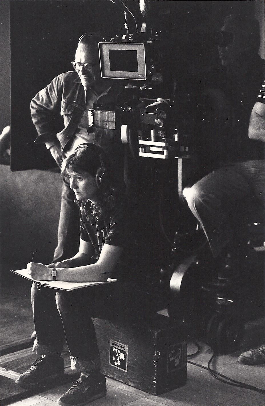 Sidney Lumet and Martha Pinson on the set of 'Power,' 1985. Photo Credit: Kerry Hayes