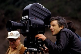 John Cassavetes on the set of A Woman Under the Influence. Photography by Brian Hamill