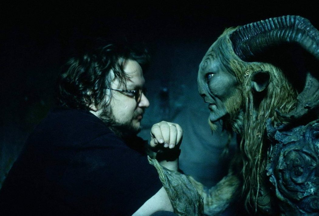 Guillermo del Toro and Doug Jones as Fauno on the set of El laberinto del fauno (Pan's Labyrinth). Still photographer: Teresa Isasi © Picturehouse