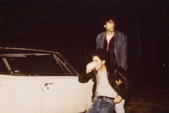 Joel and Ethan Coen on the set of Blood Simple. Production still photographer: Blaine Pennington © MGM, River Road Productions, Foxton Entertainment