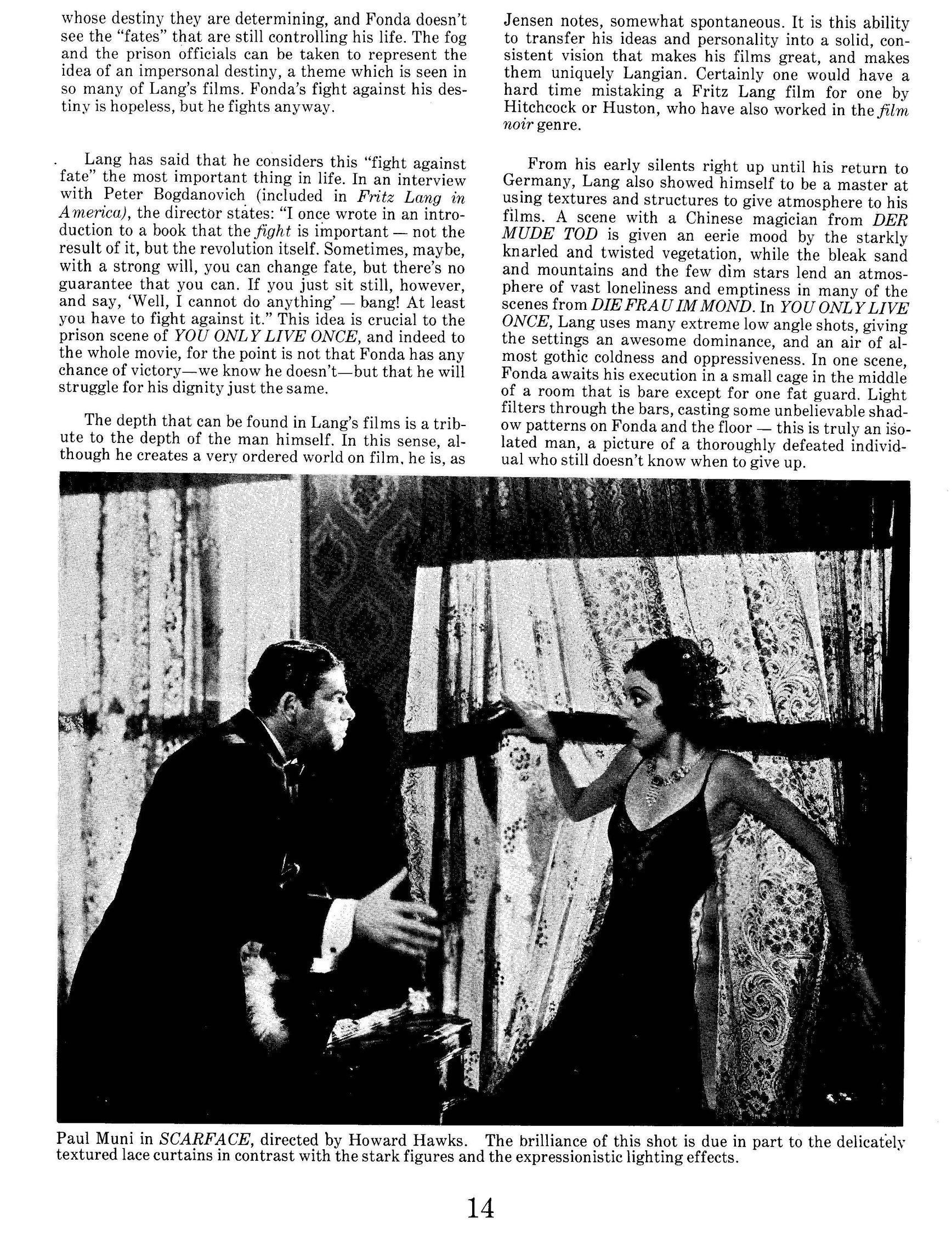Mise-en-Scène' and Fritz Lang: The Invaluable, Short-Lived