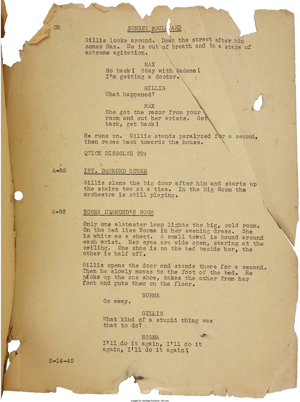 Sunset Boulevard': Billy Wilder and Charles Brackett's Sobering